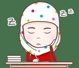 LAILA, Cute Muslim girl Version 2 sticker #12443881