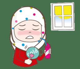 LAILA, Cute Muslim girl Version 2 sticker #12443883