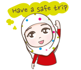 LAILA, Cute Muslim girl Version 2 sticker #12443885