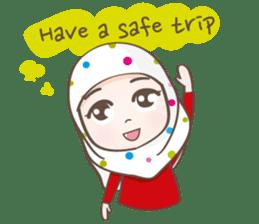 LAILA, Cute Muslim girl Version 2 sticker #12443885