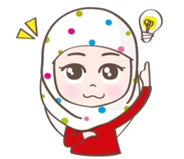 LAILA, Cute Muslim girl Version 2 sticker #12443886