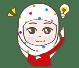 LAILA, Cute Muslim girl Version 2 sticker #12443886