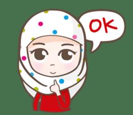 LAILA, Cute Muslim girl Version 2 sticker #12443887