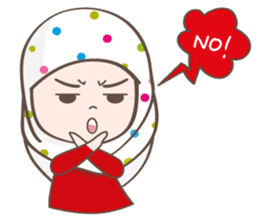 LAILA, Cute Muslim girl Version 2 sticker #12443888