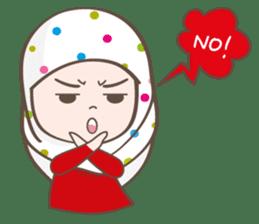 LAILA, Cute Muslim girl Version 2 sticker #12443888
