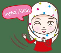 LAILA, Cute Muslim girl Version 2 sticker #12443889
