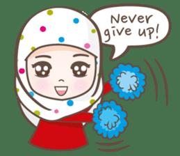 LAILA, Cute Muslim girl Version 2 sticker #12443892