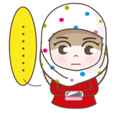 LAILA, Cute Muslim girl Version 2 sticker #12443893