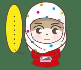 LAILA, Cute Muslim girl Version 2 sticker #12443893