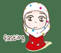 LAILA, Cute Muslim girl Version 2 sticker #12443895