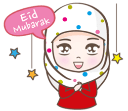 LAILA, Cute Muslim girl Version 2 sticker #12443896
