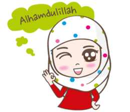 LAILA, Cute Muslim girl Version 2 sticker #12443897