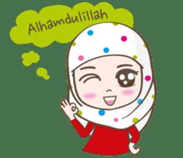 LAILA, Cute Muslim girl Version 2 sticker #12443897