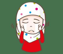 LAILA, Cute Muslim girl Version 2 sticker #12443898