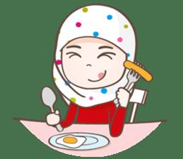 LAILA, Cute Muslim girl Version 2 sticker #12443901