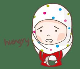 LAILA, Cute Muslim girl Version 2 sticker #12443902
