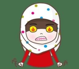 LAILA, Cute Muslim girl Version 2 sticker #12443904