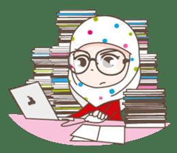 LAILA, Cute Muslim girl Version 2 sticker #12443907