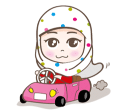 LAILA, Cute Muslim girl Version 2 sticker #12443908