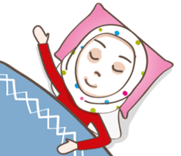 LAILA, Cute Muslim girl Version 2 sticker #12443909