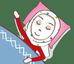 LAILA, Cute Muslim girl Version 2 sticker #12443909