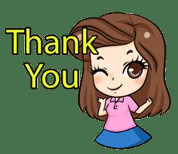 Nun : Greeting Happy Birthday to You. sticker #12458615