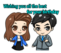 Nun : Greeting Happy Birthday to You. sticker #12458617