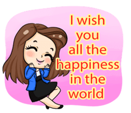 Nun : Greeting Happy Birthday to You. sticker #12458618