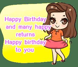 Nun : Greeting Happy Birthday to You. sticker #12458619