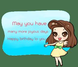 Nun : Greeting Happy Birthday to You. sticker #12458620