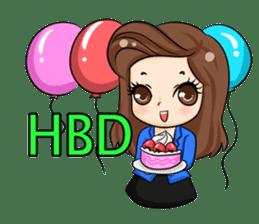 Nun : Greeting Happy Birthday to You. sticker #12458622