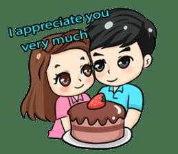 Nun : Greeting Happy Birthday to You. sticker #12458625