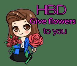 Nun : Greeting Happy Birthday to You. sticker #12458626