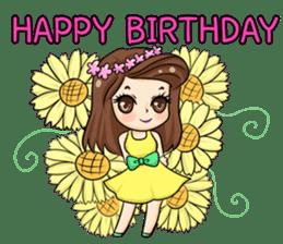 Nun : Greeting Happy Birthday to You. sticker #12458628