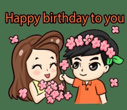 Nun : Greeting Happy Birthday to You. sticker #12458629