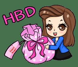 Nun : Greeting Happy Birthday to You. sticker #12458630