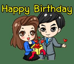 Nun : Greeting Happy Birthday to You. sticker #12458633