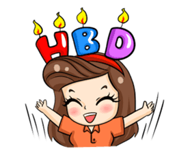 Nun : Greeting Happy Birthday to You. sticker #12458635