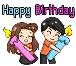 Nun : Greeting Happy Birthday to You. sticker #12458637