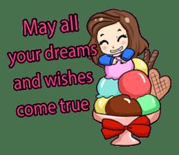Nun : Greeting Happy Birthday to You. sticker #12458642