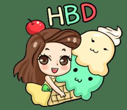 Nun : Greeting Happy Birthday to You. sticker #12458644