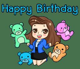 Nun : Greeting Happy Birthday to You. sticker #12458646