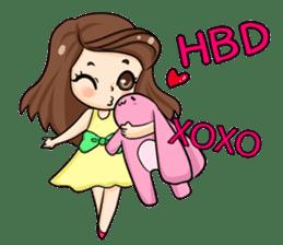 Nun : Greeting Happy Birthday to You. sticker #12458648