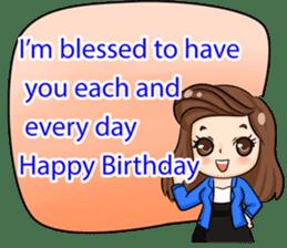 Nun : Greeting Happy Birthday to You. sticker #12458650