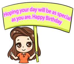 Nun : Greeting Happy Birthday to You. sticker #12458651