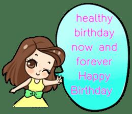 Nun : Greeting Happy Birthday to You. sticker #12458652