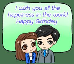 Nun : Greeting Happy Birthday to You. sticker #12458653