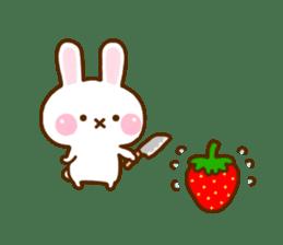 Rabbit Strawberry 11 sticker #12465712