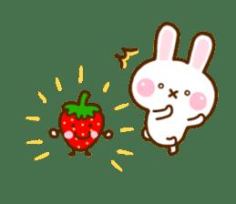 Rabbit Strawberry 11 sticker #12465714