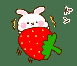 Rabbit Strawberry 11 sticker #12465718